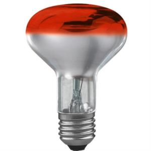 Reflektorlampe, 60W, E27, 240V, rot, Wide Flood, 8