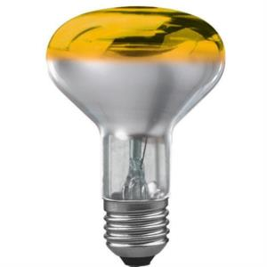 Reflektorlampe, 60W, E27, 240V, gelb, Wide Flood,