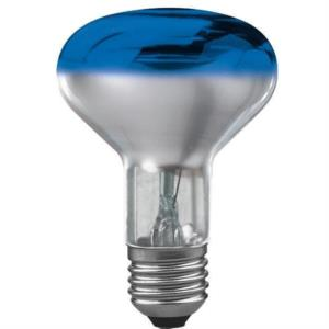 Reflektorlampe, 60W, E27, 240V, blau, Wide Flood,